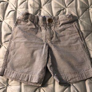 J.Crew seersucker shorts boys size 5